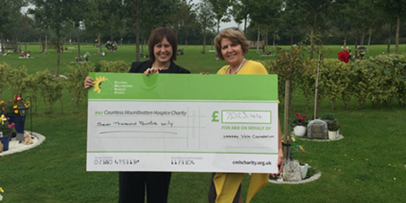 Donation to Countess Mountbatten Hospice