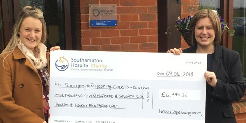 Donation made to Southampton General Hospital for Prostate Cancer