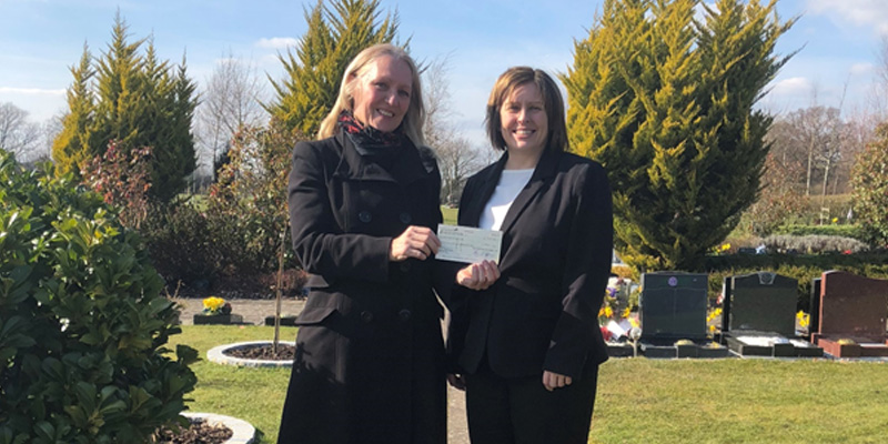 Donation of £1500 made to Help In Bereavement